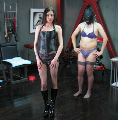 Mistress Bijou training her sissy slut