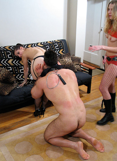 Training femdom ass worship slave was and