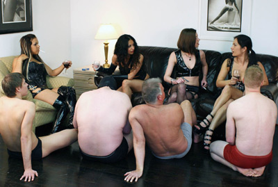 Mistresses and slaves party fun