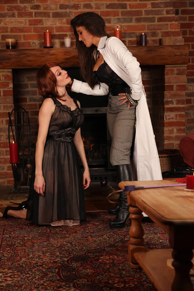 Accepting the submission of her slave girl