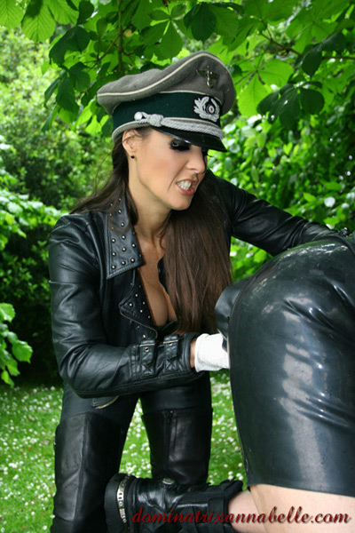 Fisting on her pony slave to make sure he goes faster