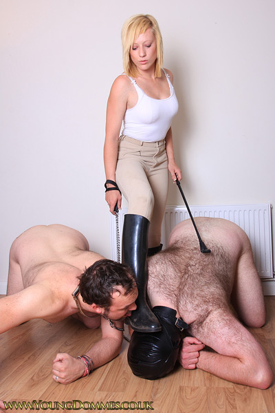 Domination man ridingboots woman someone