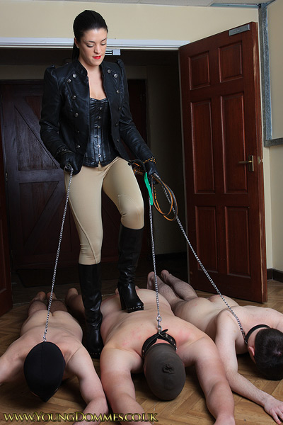 Human doormats for the riding Mistress