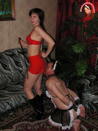 Maid man makes his Mistress feels superior