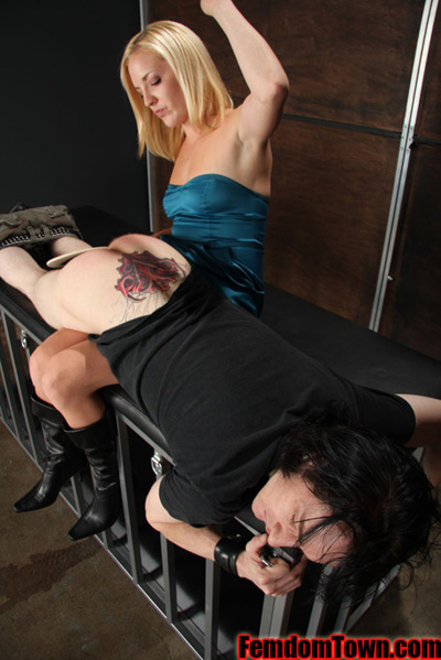 OTK spanking by Mistress Bella