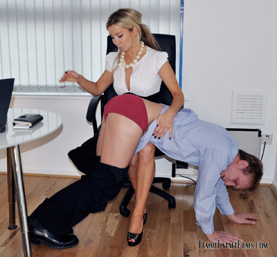 OTK spanking on office executive