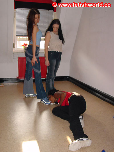 Diana and Mona bullying their black slave girl