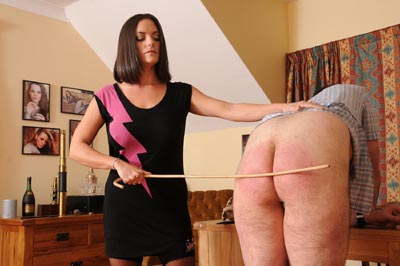 Rebekah canes on her disobedient slave