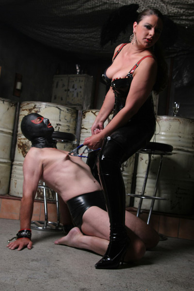 Nipple clamping by Lady Asmodena