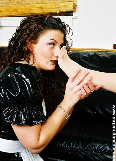 Maid to smell Mistress's stockings