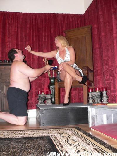 Mistress Venus Divine needs a human ash tray