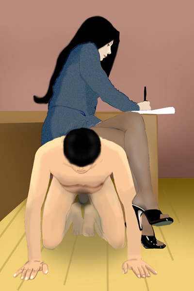Serving quietly as her stool