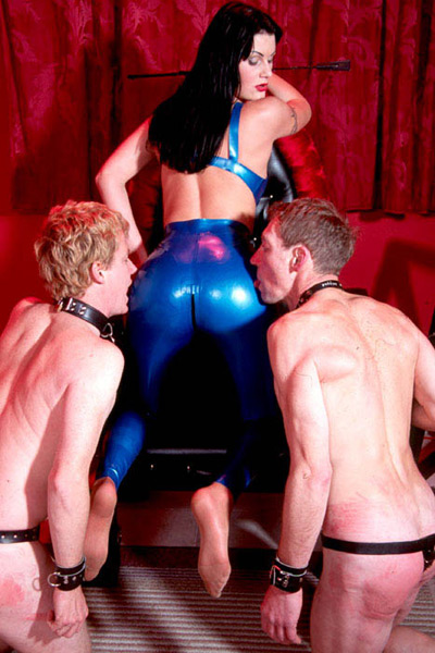 Slaves tasting her latex