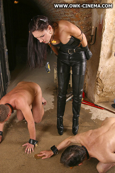 Madame Sarka supervising the slaves