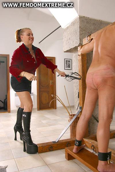 Mistress Marsella disciplines her defiant slave