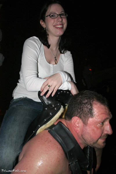 Pony slave enduring for his Mistress