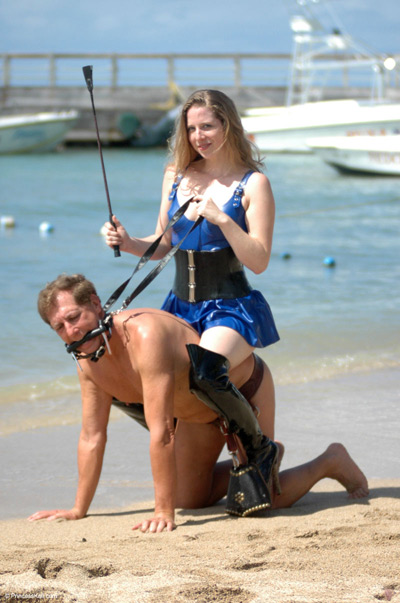 Princess Kali having fun riding her pony slave