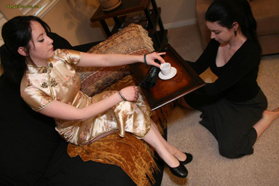 Perfection in servitude from her slave girl