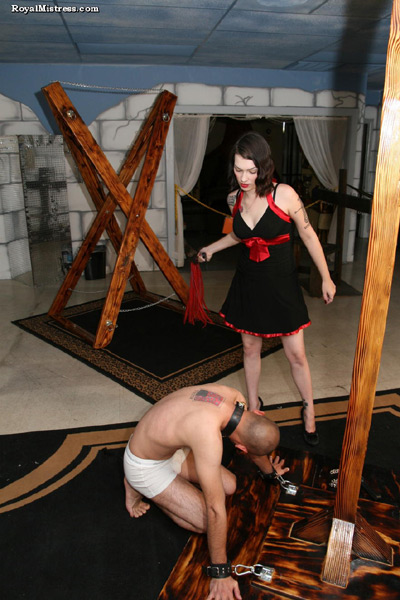 Flogged for his Mistress's pleasure