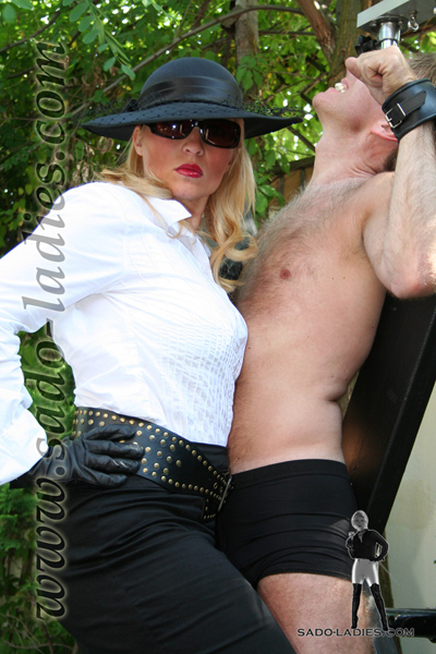 Restrained and punished for the amusement of the supreme Lady