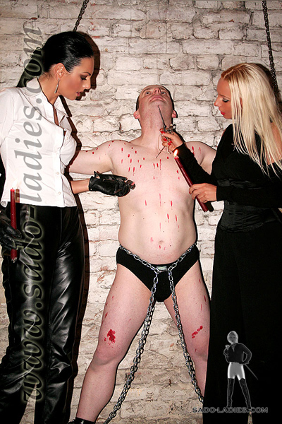 At the mercy of the German Mistresses in the cellar