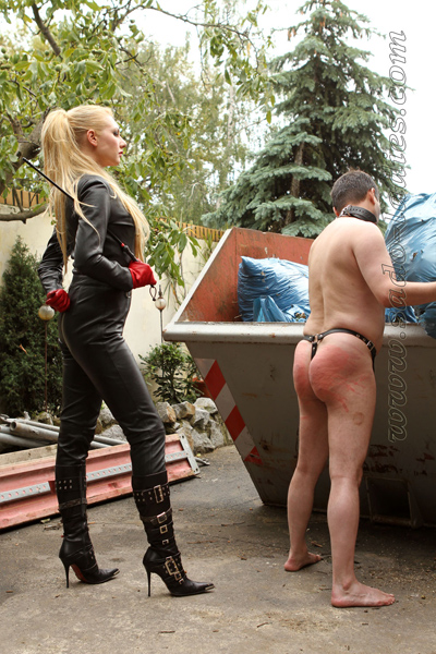 Whipping the house slave to work harder
