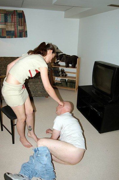 Bedroom spanking by Miss Allison