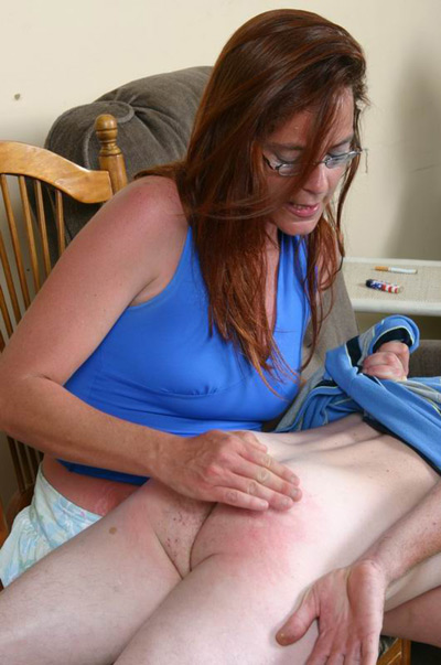 Miss Alicia's over the knee spanking