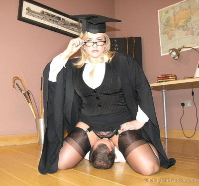 Suffer under the pussy of professor Nina Birch