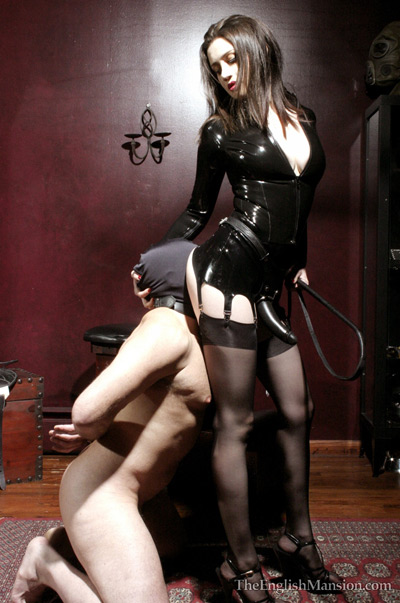 Worshipping the sexy ass of his Mistress