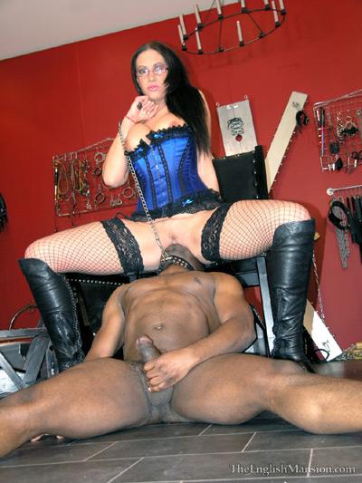 Ass sniffer gets hard servicing his Mistress