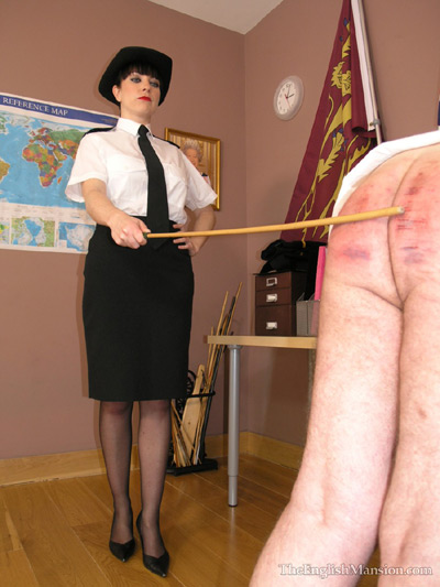Naval thrashing punishment on defiant subordinate