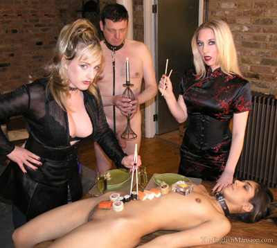 Sushi servitude on the body of her slave girl