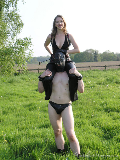 Mistress T is having fun at the fields