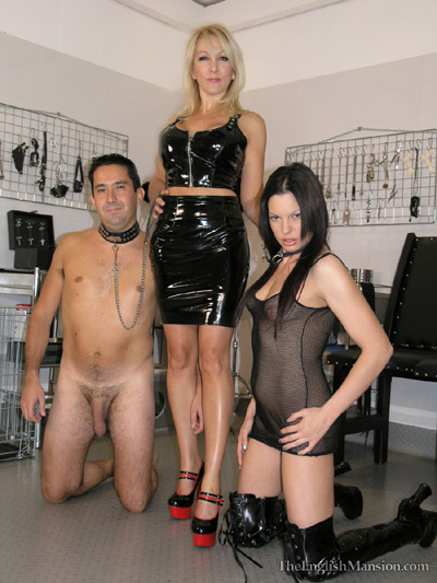 A slave boy and slave girl for her pleasure