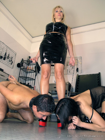 A slave boy and girl to serve her