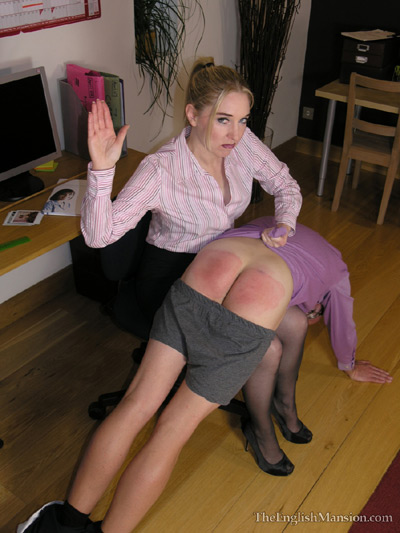 Strict office spanking by Sidonia