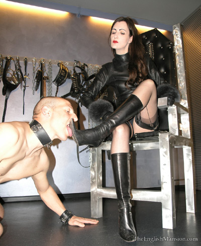 Boots meant to be cleaned by slaves