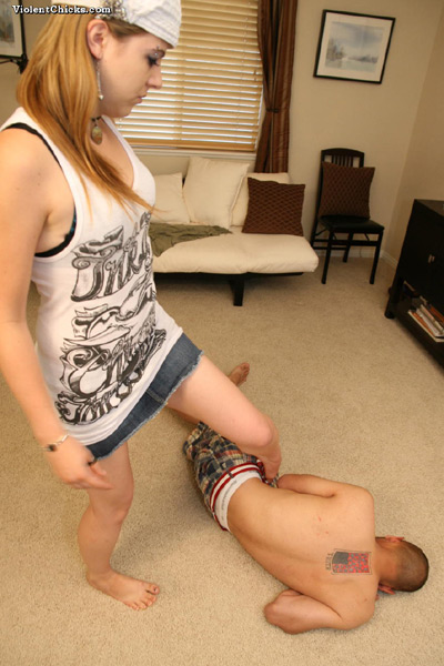Being kicked by Mistress for nothing