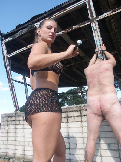 Whipping punishment at the countryside